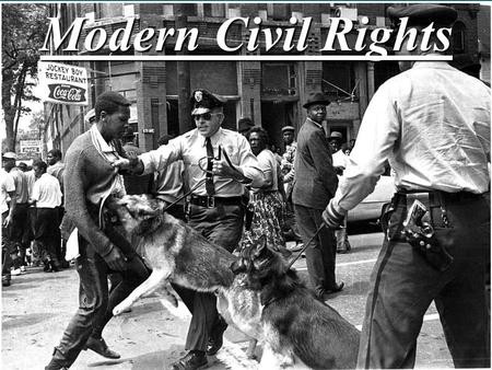 Modern Civil Rights. I. Introduction: Most influential Supreme Court cases from the later 20 th century dealt with the equal protection clause of the.