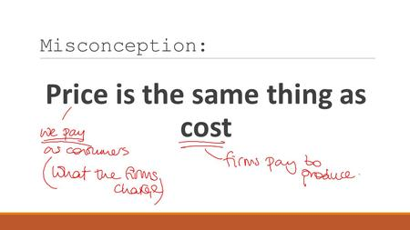 Misconception: Price is the same thing as cost. What is a pricing strategy?