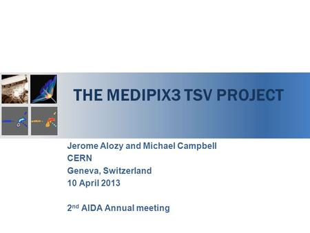 The medipix3 TSV project
