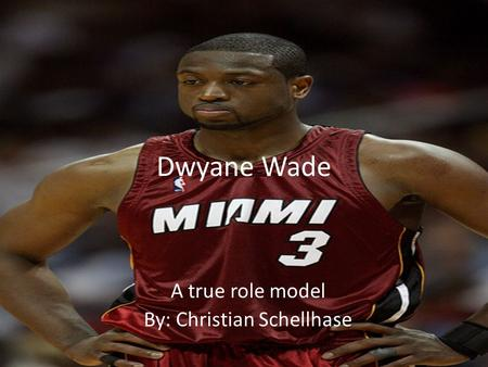 Dwyane Wade A true role model By: Christian Schellhase.