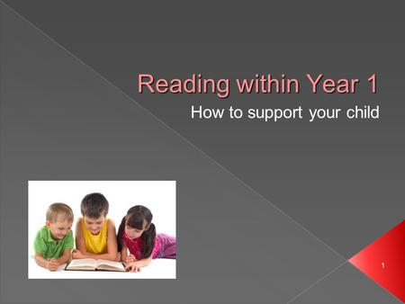 1 Reading within Year 1 How to support your child 1.