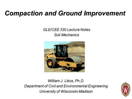 Compaction and Ground Improvement