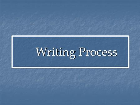 Writing Process Writing Process. What is an Essay? An organized piece of writing that focuses on a single topic An organized piece of writing that focuses.