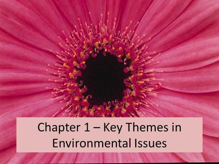 Chapter 1 – Key Themes in Environmental Issues. Common Concerns of Environmental Scientists Reliance on resources (like oil), which we might be depleting.