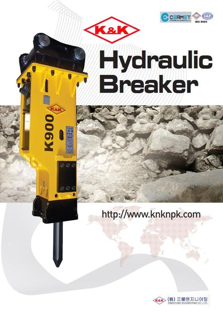 K&K Hydraulic Breaker Products K&K Structural Schema : NPK Type K&K Structural Schema Through Bolt Back Head Cylinder Front Head Chisel Accumulator Control.