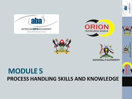 NATIONAL IT AUTHORITY MODULE 5 PROCESS HANDLING SKILLS AND KNOWLEDGE.