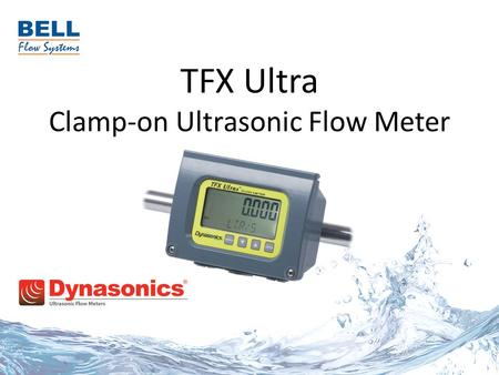 "TFX Ultra Clamp-on Ultrasonic Flow Meter. Model TFX Ultra  Rugged, all inclusive output options  Compact integral mount system for pipes 2"" (50.8 mm)"
