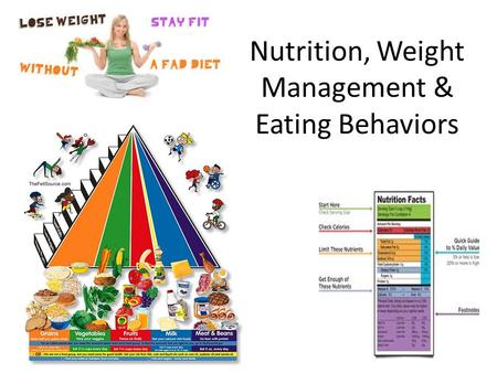 Nutrition, Weight Management & Eating Behaviors. Nutrition & Weight Management Calories (kilocalories) a unit to measure energy: the heat energy found.