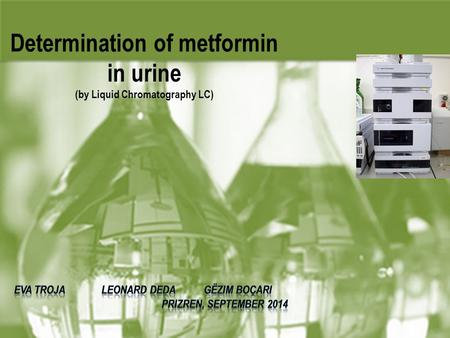 Determination of metformin in urine (by Liquid Chromatography LC)