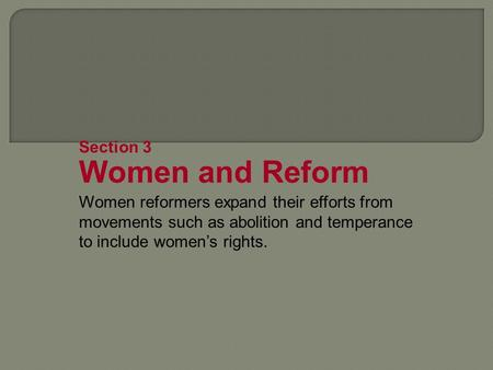 the womens movement essay Social issues essays: the women's rights movement of the 1800s.
