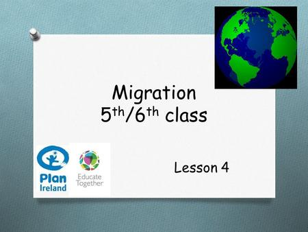 Migration 5 th /6 th class Lesson 4. In today's lesson we are going to…  Examine a case study of Irish emigration  Learn about the life and choices.