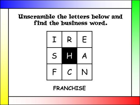 IRE SHA FCN FRANCHISE. Franchises Aim: Identify the characteristics of a Franchise Objectives: Define a Franchise Know the difference between a Franchisee.