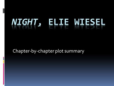 Chapter-by-chapter plot summary