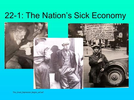 22-1: The Nation's Sick Economy. Industry Key industries barely made a profit Some industries lost business to foreign competition and new American technologies.