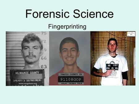 Forensic Science Fingerprinting. Fingerprinting Overview Has been used for more than a century Because of its unique characteristic, it is conclusive.