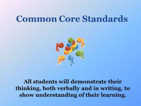1 Common Core Standards. Shifts for Students Demanded by the Core Shifts in ELA/Literacy Building knowledge through content-rich nonfiction and informational.