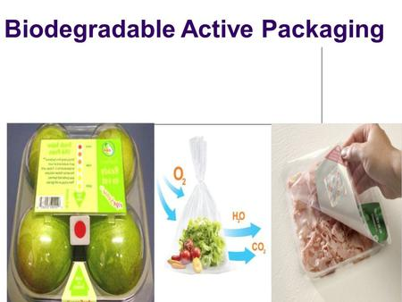Biodegradable Active Packaging. BIODEGRADABLE PACKAGING Biodegradable: Material that left to itself will be decomposed by natural processes ( microorganisms)
