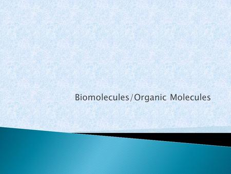 Biomolecules/Organic Molecules.  pH measures how acidic or basic a solution is  The pH scale ranges from 0 – 14 ◦ Less than 7.0 = ACIDIC ◦ More than.