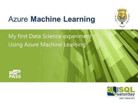 Azure Machine Learning My first Data Science experiment Using Azure Machine Learning.