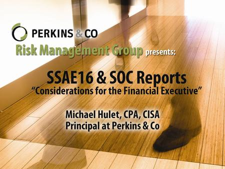 SAS No. 70, Service Organizations A standard for reporting on a service organization's controls affecting user entities' financial statements. Only for.