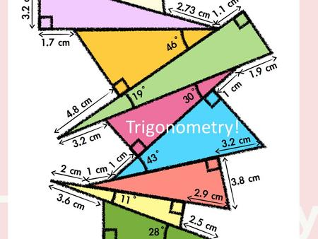 Trigonometry!. What is it? The study of the relationships between the sides and angles of right triangles.