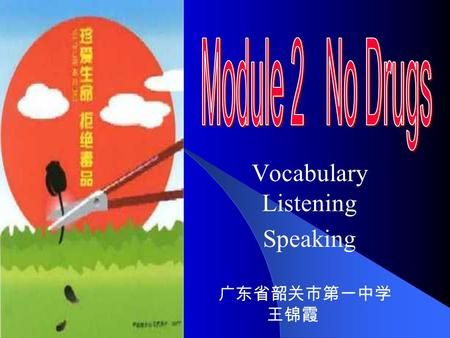 Vocabulary Listening Speaking 广东省韶关市第一中学 王锦霞. Introduce the new words break into the house burglary illegal break into the shopping mall shoplifting break.