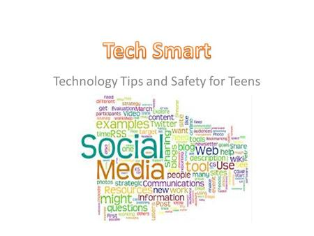 Technology Tips and Safety for Teens. Social Networks Social Networks are internet applications which are used to facilitate communication between users.