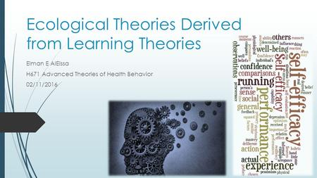 Ecological Theories Derived from Learning Theories Eiman E AlEissa H671 Advanced Theories of Health Behavior 02/11/2016.