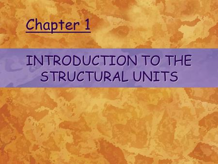 INTRODUCTION TO THE STRUCTURAL UNITS Chapter 1. Anatomy and Physiology Branches of Anatomy 1.Gross Anatomy- study of large and easily observable structures.