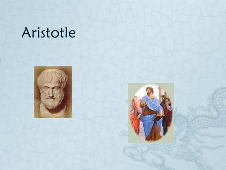 Aristotle  Ethics as viewed by Aristotle, is an attempt to find out our chief end or highest good: an end which he maintains is really final.