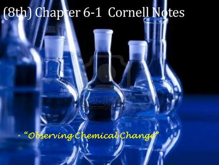 exp 1 observations of chemical changes Conclusion: the observation of chemical changes was helpful to know the chemicals and its reaction it helped to interpret underlying properties of chemicals this experiment taught a lot about acid and basic.