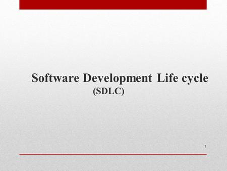 1 Software Development Life cycle (SDLC). Phases of SDLC 2 Requirement Analysis (Defining Requirement) Designing (Design) Coding (Implementation) Software.