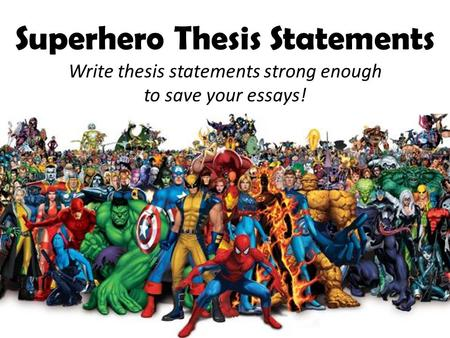 purdue owl strong thesis statements A thesis statement presents the position that you intend to argue within your  paper,  see slide 4 in the video) thesis statement: how to write a strong thesis  sentence  problem statements: a brief introduction (purdue owl) how to:  write a.
