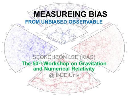 MEASUREING BIAS FROM UNBIASED OBSERVABLE SEOKCHEON LEE (KIAS) The 50 th Workshop on Gravitation and Numerical INJE Univ.