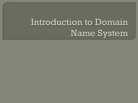 1) The size of the Domain name system. 2) The main components of the Domain Naming System operation. 3) The function of the Domain Naming System. 4)Legislation.
