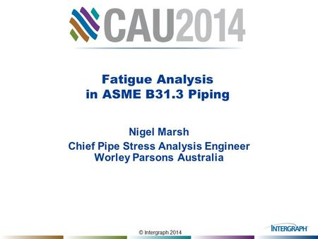 Fatigue Analysis in ASME B31.3 Piping