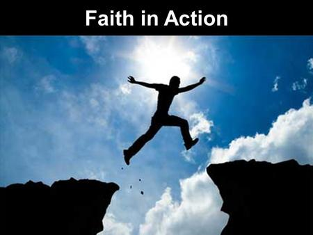 "Faith in Action ""I have not come to bring peace but a sword"""