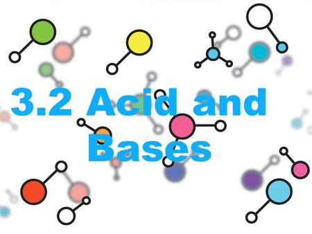 3.2 Acid and Bases. Acids and their properties An acid is any compound that increases the number of hydronium ions –Hydronium forms when and H+ separates.