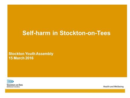 Self-harm in Stockton-on-Tees Stockton Youth Assembly 15 March 2016.