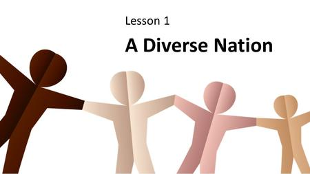 Lesson 1 A Diverse Nation. Culture is a cluster of intangible and tangible aspects of life passed down from generation to generation. Dr. Felipe Korzenny,