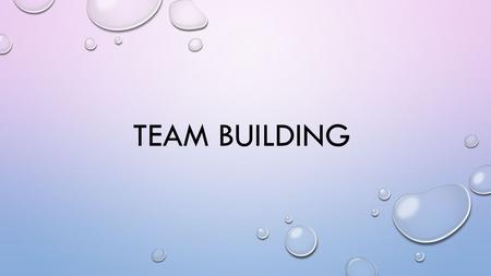 TEAM BUILDING. WHY IS TEAM BUILDING IMPORTANT? YOUR ABILITY TO GET ALONG WITH OTHER PEOPLE, AND USING TEAMWORK WILL LARGELY DETERMINE HOW SUCCESSFUL YOU.