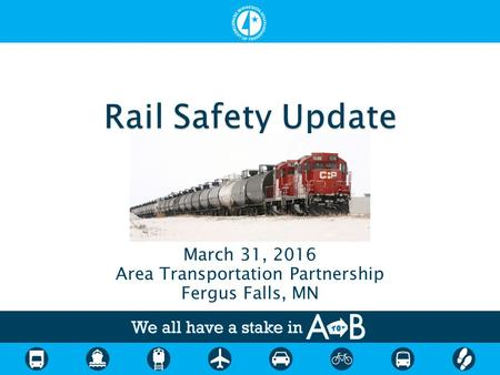March 31, 2016 Area Transportation Partnership Fergus Falls, MN.