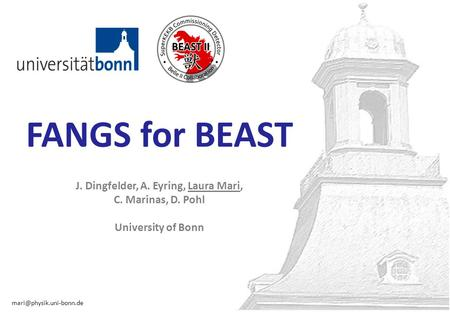 1 FANGS for BEAST J. Dingfelder, A. Eyring, Laura Mari, C. Marinas, D. Pohl University of Bonn