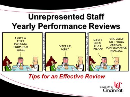 Unrepresented Staff Yearly Performance Reviews Tips for an Effective Review.