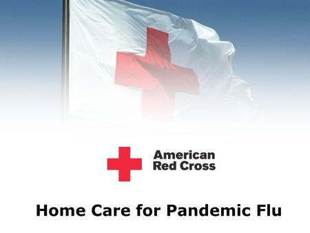 Home Care for Pandemic Flu. Pandemic Flu Preparation.