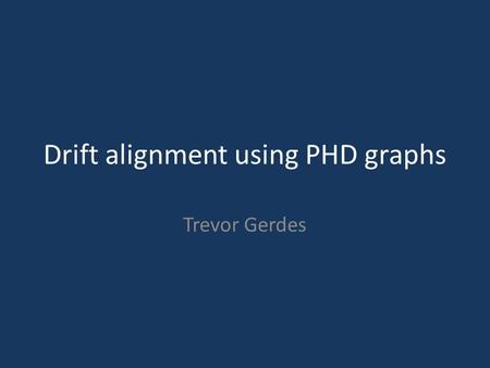 Drift alignment using PHD graphs Trevor Gerdes. Requirements 1.Auto-guidable telescope 2.Guidescope 3.Guide camera that is supported by PHD Guiding 4.Computer.