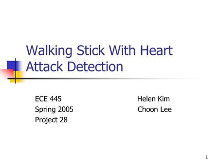 Walking Stick With Heart Attack Detection
