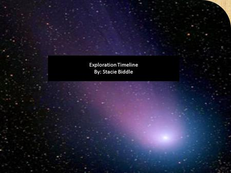 Exploration Timeline By: Stacie Biddle. 1900 and 1914 In 1900 the Russian rocket scientist Konstantin Tsiolkovsky publishes The Exploration of Cosmic.