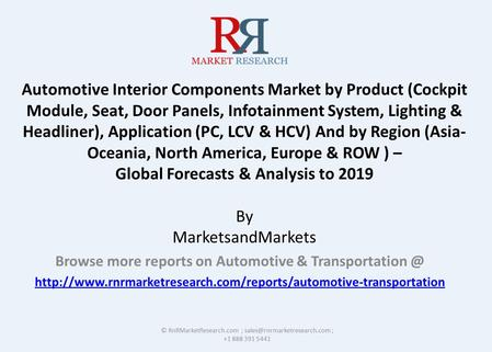 Automotive Interior Components Market by Product (Cockpit Module, Seat, Door Panels, Infotainment System, Lighting & Headliner), Application (PC, LCV &