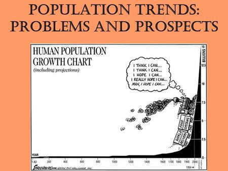 Population Trends: Problems and Prospects. 2 A.D. 2000 A.D. 1000 A.D. 1 1000 B.C. 2000 B.C. 3000 B.C. 4000 B.C. 5000 B.C. 6000 B.C. 7000 B.C. 1+ million.